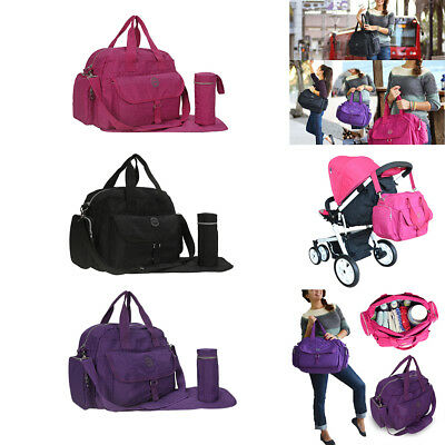Large Capacity Waterproof Nappy Baby Diaper Bag Tote Mummy Changing Shoulder Bag