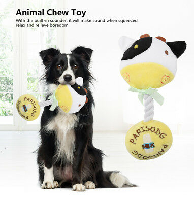 Cotton Rope Animal Shaped Pet Dog Puppy Chew Squeaky Plush Sound Toys Squeaker