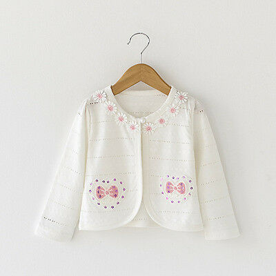 New 12 Months 3 Years Baby Girls Bolero Shrug Bowknot Toddler Cardigan Jackets