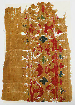 4-8C Ancient Coptic Textile Fragment - Part of Clothes, Christian Arts