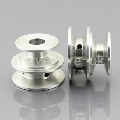 O/A Type Pulley 2 V Groove Bore 8/12mm OD 40mm 30mm Aluminium Alloy for O/A Belt