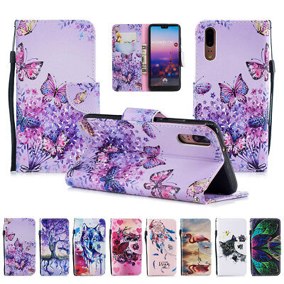 Magnetic PU Leather Stand Case Cover for Huawei P8 Lite 2017 P9 P10 P20 Pro