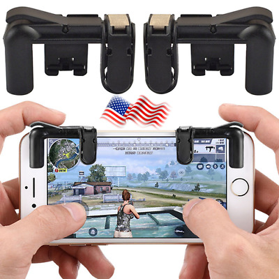 Phone Gamepad Trigger Fire Button Aim Key For L1R1 Shooter Controller PUBG V3.0