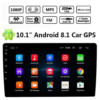 "10.1"" Android 8.1 2Din Car Stereo Radio GPS Navi Wifi OBD Mirror Link MP5 Player"