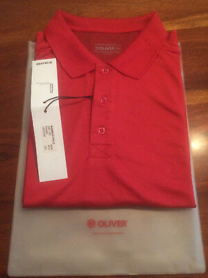 Neues OLIVER SPORT  Bamboo Polo Shirt  2XL  Rot mit Etikett