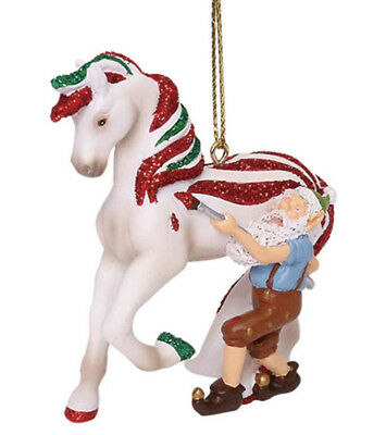 NEW Trail of Painted Ponies Ornament CANDY COATED TREAT Santa Elf Limted 5,500