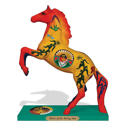New Enesco Trail of Painted Ponies Horse of the Rising Sun Yellow Orange Culture