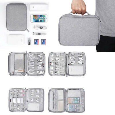 Travel Waterproof Storage Bag Electronics USB Charger Case Data Cable Organizer