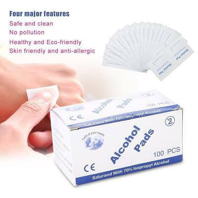 New 100 Pcs Isopropyl Alcohol Wipe Swabs Wipes Skin Cleansing Medical Grade