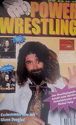 Power Wrestling Magazin April 2000 WWE WCW + 2 Poster (Saturn, Johnny the Bull)