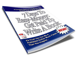 Sale E Book - Must Read - 7 Days To Easy Money Get Paid To Write A Book On Cd
