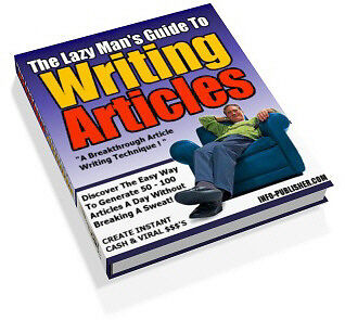 Sale E Book - Must Read The Lazy Mans Guide To Writing Articles On Cd