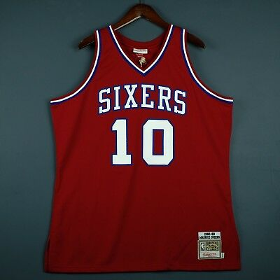 100% Authentic Maurice Cheeks Mitchell   Ness 82 83 Sixers Jersey Size 40 M  Mens a7136deea