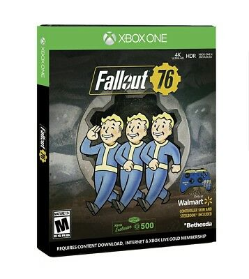 Fallout 76 Steelbook Edition(Xbox One) Exclusive Controller Skin,plus 500 Atoms!