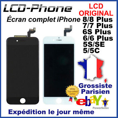 Ecran Complet Apple ORIGINAL LCD iPhone 5/5S/SE/6/6S/7/8 Plus Blanc/Noir