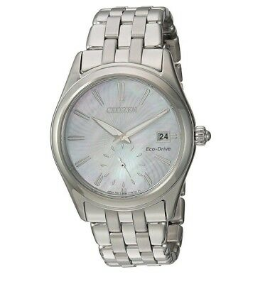 Citizen Eco-Drive Corso Women's Silver-Tone Bracelet 36mm Watch EV1030-57D