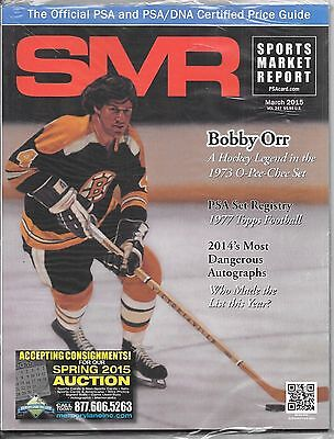 SMR Bobby Orr March 2015 PSA Sports Market Report NEW in package Boston Bruins