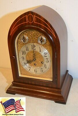 Seth Thomas Restored Extraordinary Antique Chime Clock 70-1928 In Mahogany