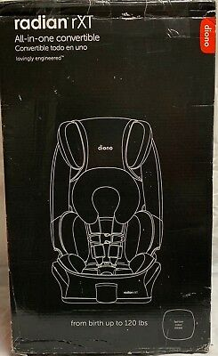 Diono Radian RXT Baby Infant All in One Convertible Car Seat Black Mist