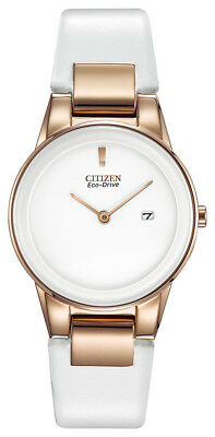 Citizen Eco-Drive Axiom Women's Rose Gold Accent White 30mm Watch GA1053-01A