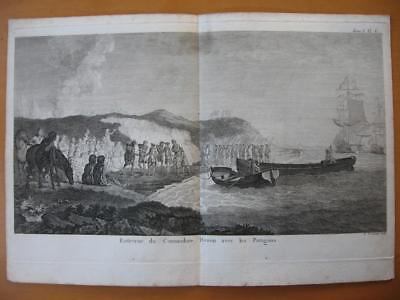 1774 - COOK - PATAGONIA Print BYRON WITH NATIVES