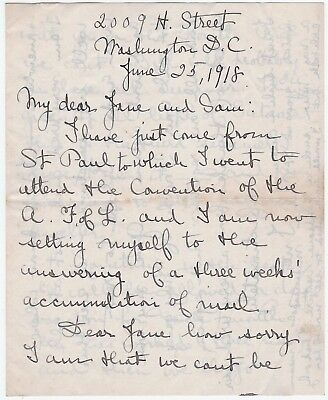 1918 Autograph Signed Letter Suffragette Feminist - Inez Haynes Gillmore Irwin
