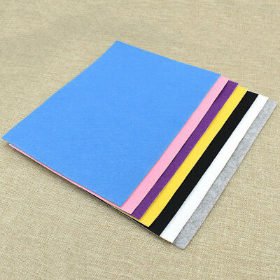A4 7 Colors Self Adhesive Felt Fabric DIY Hand Craft School Supplies for Kids