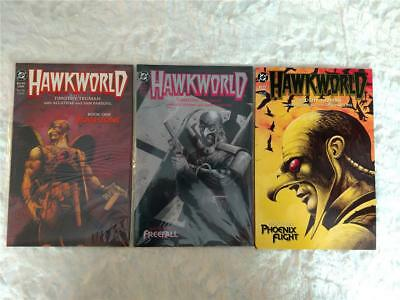 Lot of 3 1989 DC Comics Hawkworld by Timothy Truman Book One Two Three