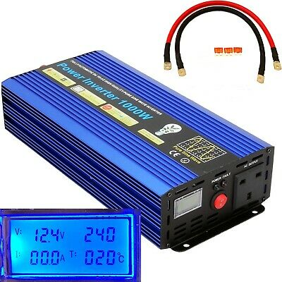 2000W(Surge)/1000W DC12V-AC240 PURE SINE WAVE POWER INVERTER WITH LCD DISPLAY