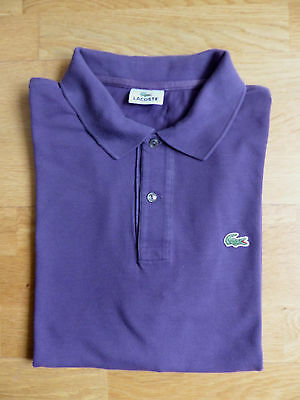 6947a8566d3 Polo LACOSTE violet manches courtes taille 6 Devanlay