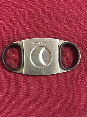 """Cigar Cutter """"PROMETHEUS"""" Stainless Steel Double Blades Guillotine Knife Pocket"""