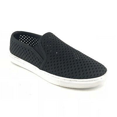 9687ce077e9 Steve Madden Womens Sneakers Size 7.5 Black Elouise Perforated Sneaker Slip  On
