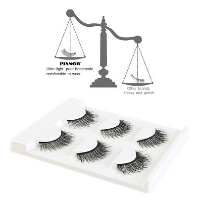 PIXNOR 2pcs Fake Eyelashes Applicator Remover Nipper & 6pcs False Eyelashes Set