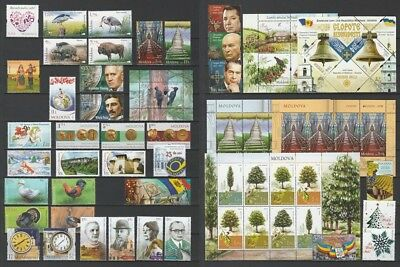 Moldova 2018 Complete / Full year set MNH stamps, blocks, sheets and booklet
