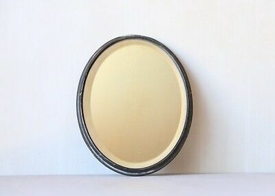 """Oval Old Vintage Mirror Tray with Raised Edge 8.5"""" x 6.5"""""""