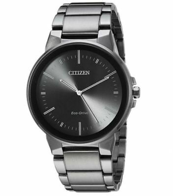 Citizen Eco-Drive Axiom Men's Black Stainless Steel 41mm Watch BJ6517-52E