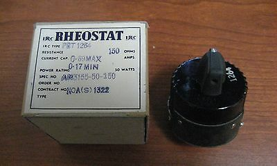 Nos Rheostat 150 Ohm 50 Watts Aircraft Power An3155-50-150