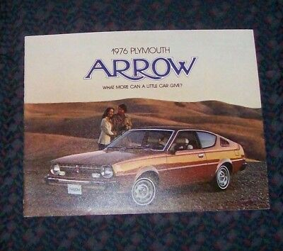 1976 Plymouth Arrow Sales Brochure