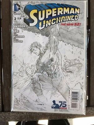 Superman Unchained #2 Jim Lee Sketch Variant 1st Print NM in my Opinion Unread