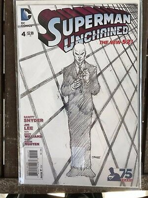 Superman Unchained #4 Jim Lee Sketch Variant 1st Print NM in my Opinion Unread