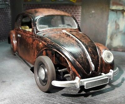 Rusty VW Volkswagen Beetle Kafer Kever  Weathered 1:18 scale