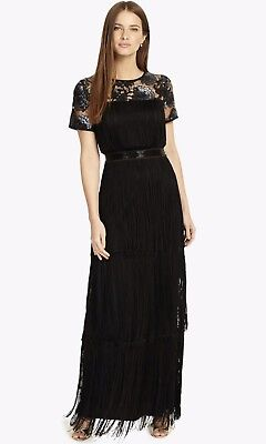 40ef135871 PHASE EIGHT MALENE Fringe Maxi Dress Black Size 20 RRP £169 - £17.00 ...
