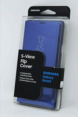 the latest ff1ea 45248 SAMSUNG S-VIEW FLIP Cover Case w/ Kickstand for Samsung Galaxy Note 9 -  Blue !!!
