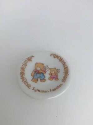 Sylvanian Families Tomy Vintage Plate Calico Critters Ceramic Bear Design Plate