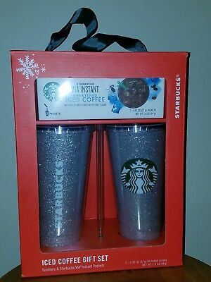 Starbucks Tumbler Set Instant Sweetened Iced Coffee Christmas Gifts Holiday 2018