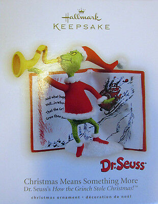 CORRECT SPELLING 2009  GRINCH CHRISTMAS MEANS SOMETHING MORE  Hallmark Ornament