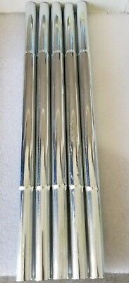"""5 Counter balanced Steel Shaft Extensions for ten clubs, fits  0.600"""" shafts"""