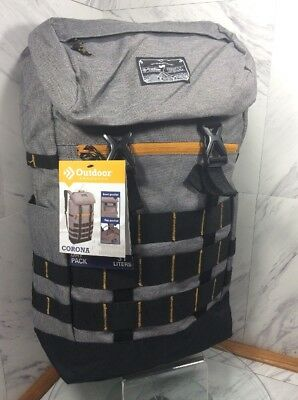 Outdoor Products Corona 31 Liters Day Pack Backpack Gray Black New W Tags