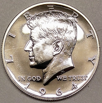 1964 Accented Hair FS-401 Kennedy Proof PR Half Dollar 50C Cherrypicker Variety
