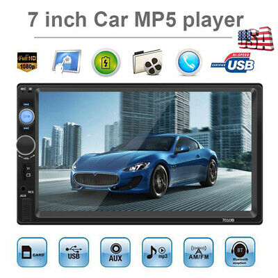 """7010B 2Din 7"""" Touch Screen Car Stereo MP5 Player Bluetooth FM Radio USB/AUX/TF"""